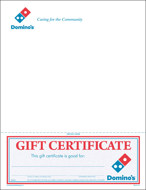 letter with promotional gift certificate 24 107 47 50