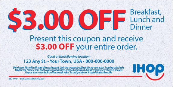 Coupons Ihop Local Store Marketing Materials From Smith