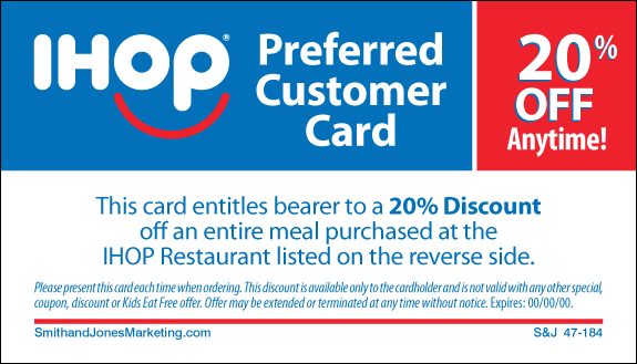 Coupons Ihop Local Store Marketing Materials From Smith: 2-Sided Cards : IHOP, Local Store Marketing Materials From