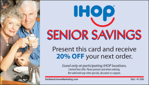 Coupons Ihop Local Store Marketing Materials From Smith: Senior Discount Cards : IHOP, Local Store Marketing