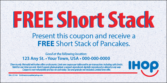Coupons Ihop Local Store Marketing Materials From Smith: Free Short Stack Coupon [47-124-01]